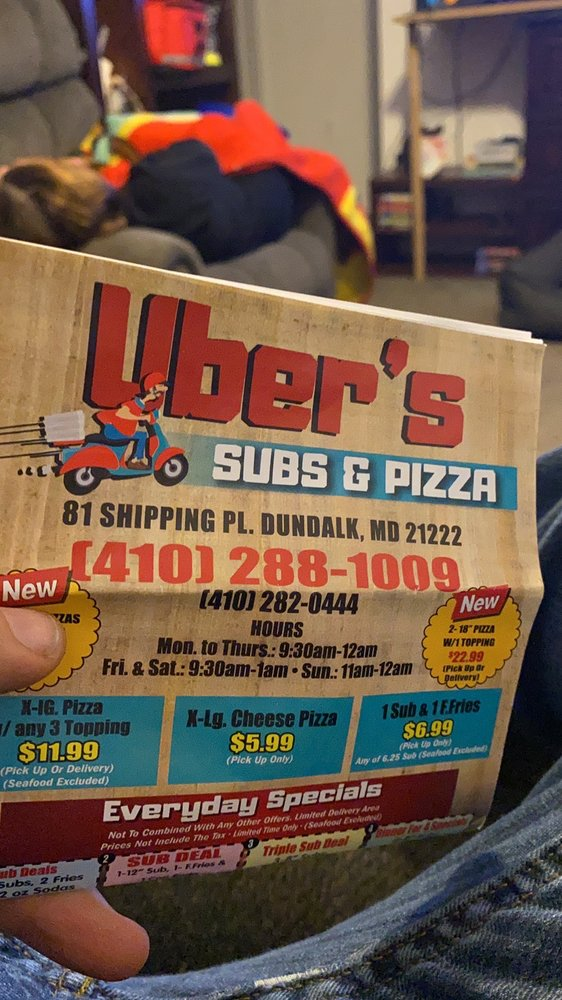 Uber's Subs And Pizza