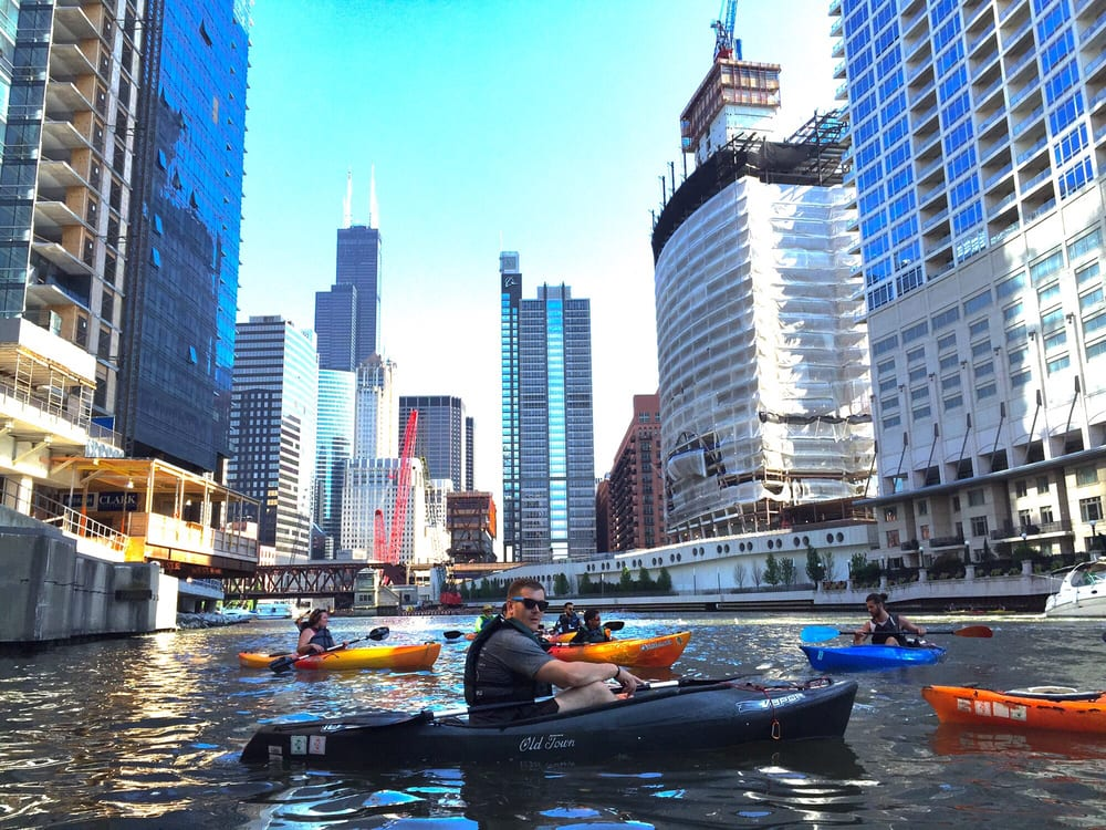 Wateriders Kayak Tours: 500 N Kingsbury St, Chicago, IL