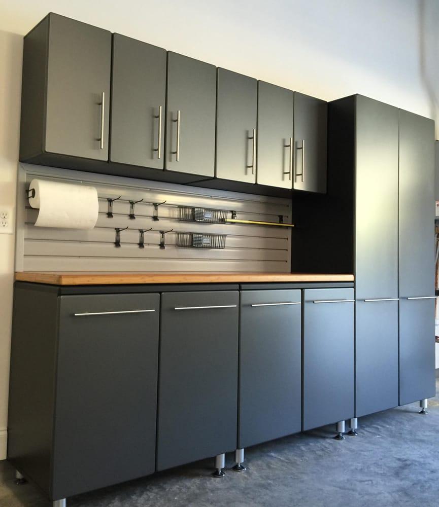 Local garage cabinet install yelp for High loft garage storage