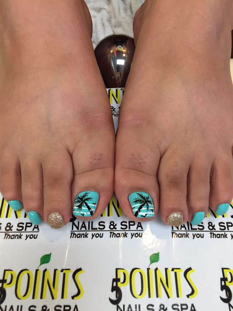 Photo Of Five Point Nails Redlands Ca United States The Hawaiin Pedicure