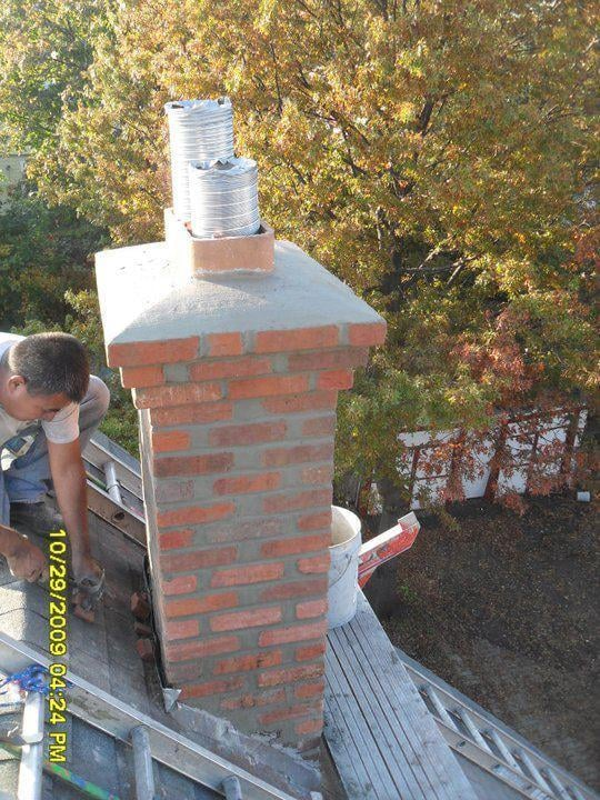 Re Pointing The Mortar Joints Resealing The Chimney