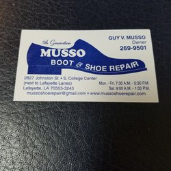 Photo Of Musso Shoe Repair Lafayette La United States