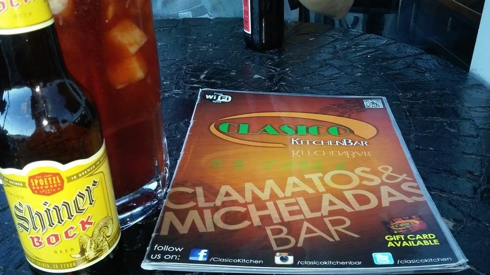 Photo of Clasico Kitchen Bar - El Paso, TX, United States. Shiner Bock