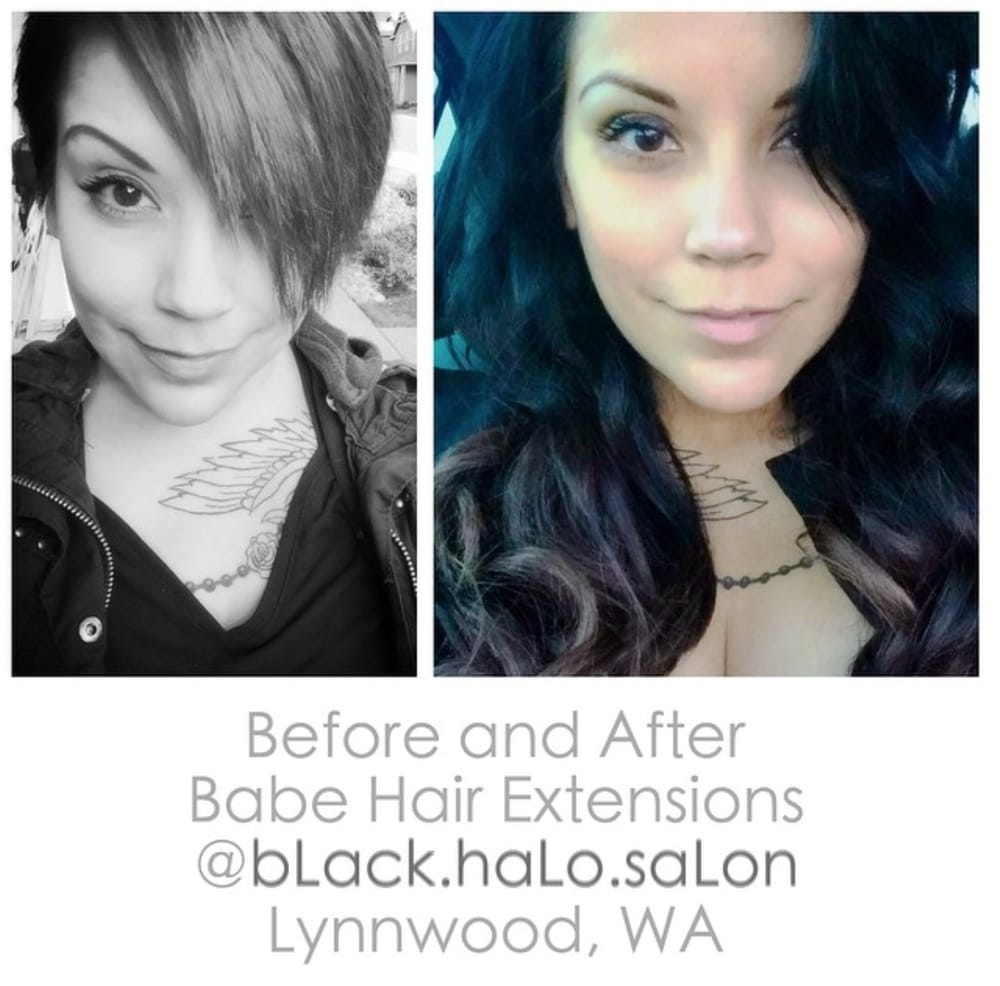 Before And After Babe Hair Extensions Black Halo Salon Offers Tape