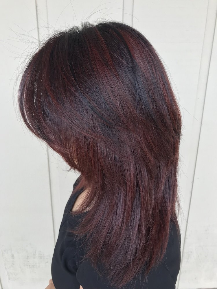 Dark Brown And Violet Highlights Yelp