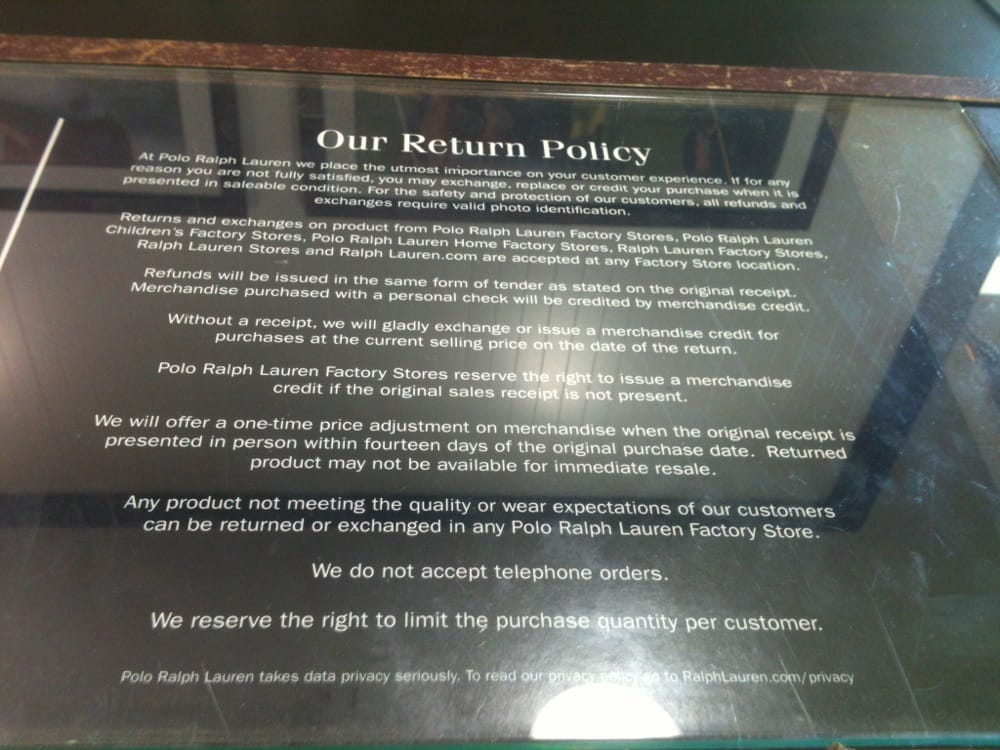 how to create a return policy