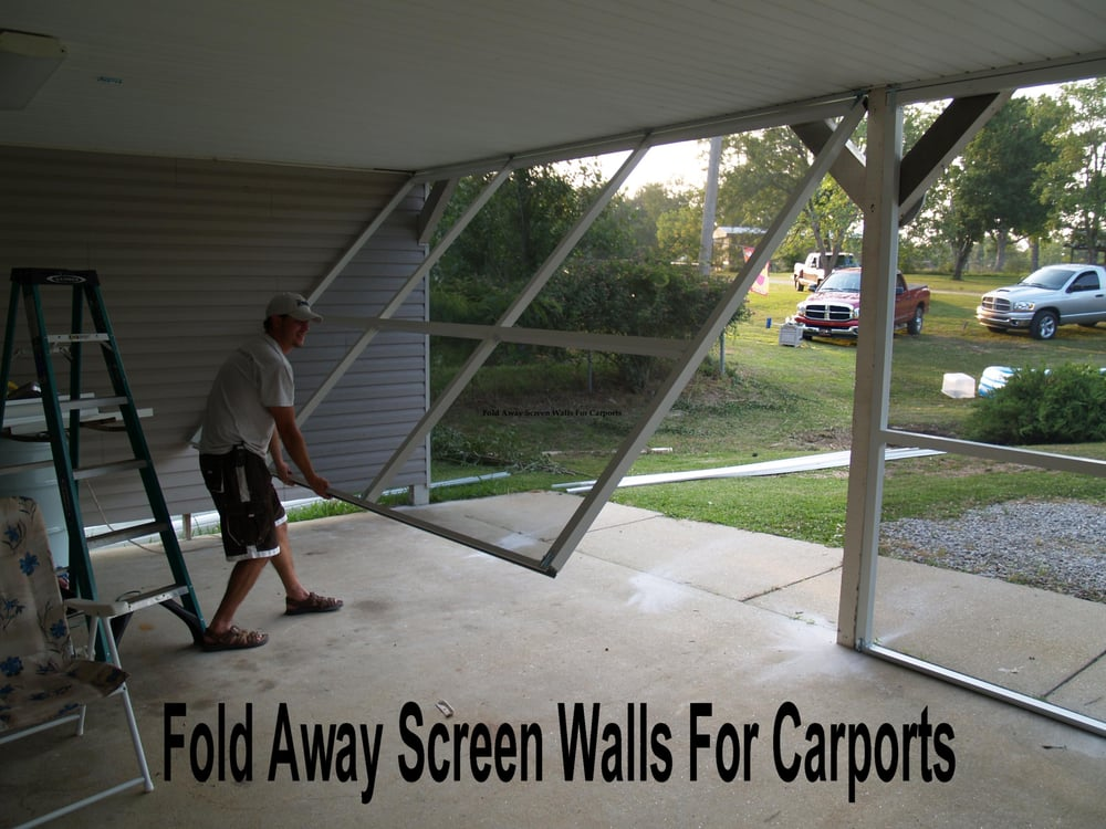 Fold Away Screen Walls For Carports Or Patio S Yelp