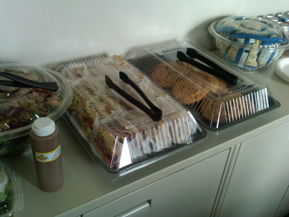 business catering: sandwiches and salad from california pizza