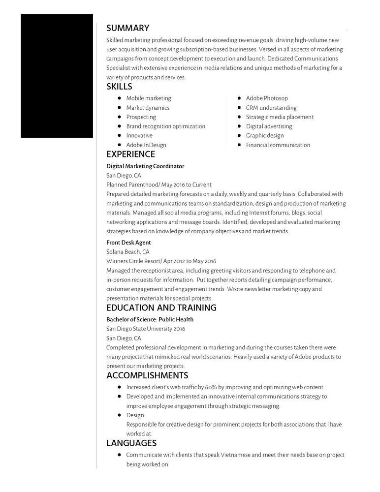 Professional Resume Writer: Anaheim, CA