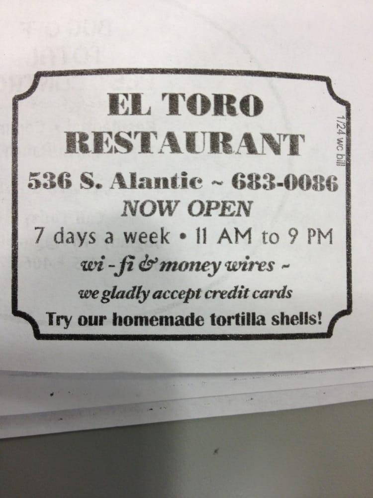 Food from Tacos El Toro