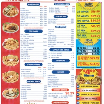 Captain hook s fish chicken order food online 18 for Hooks chicken and fish menu