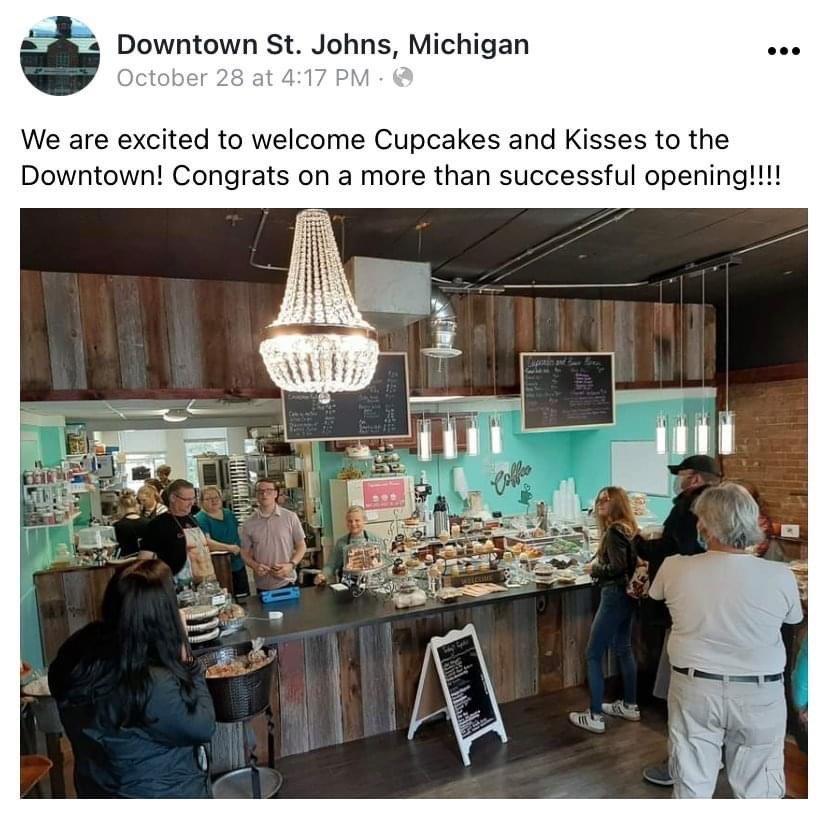 Cupcakes And Kisses - St. Johns: 115 E Walker St, Saint Johns, MI