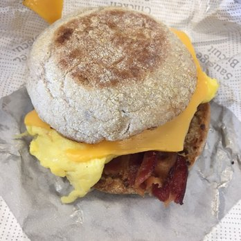 chick fil a bacon egg & cheese muffin