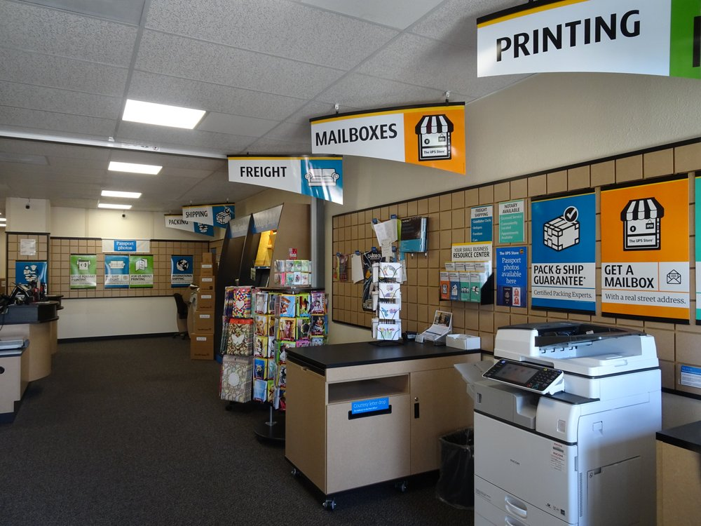 Printing business card flyer brochure postcard poster banner photo of the ups store san diego ca united states printing reheart Image collections