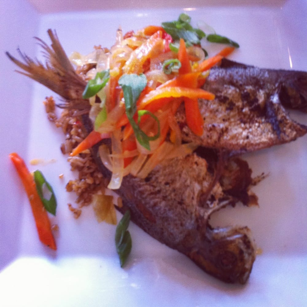 Butter fish with jerk fried rice yelp for Jamaican butter fish