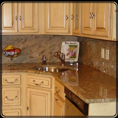 Granite countertops w/ a full granite backsplash! - Yelp on Granite Countertops With Backsplash  id=99838