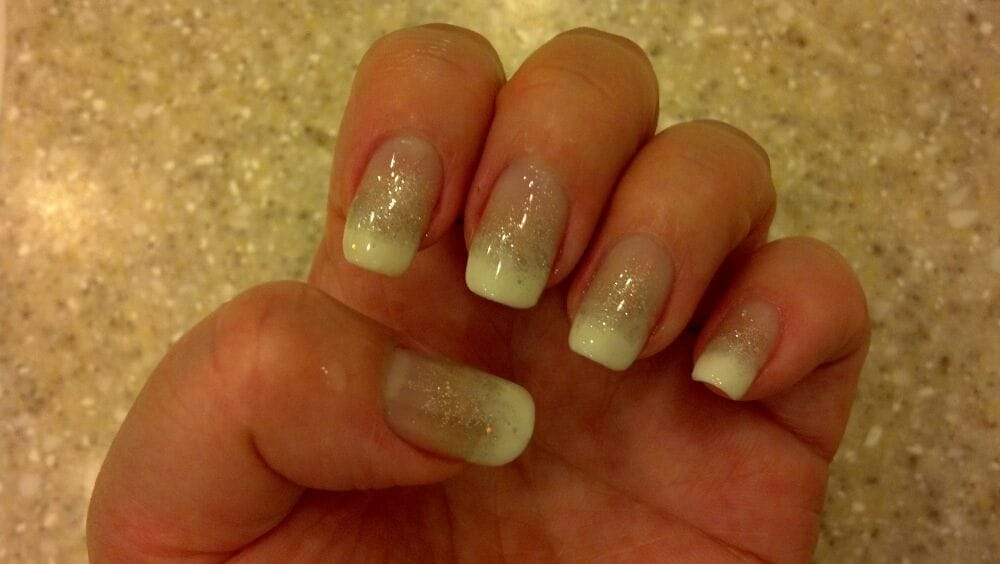 French with glitter fade gel manicure - Yelp