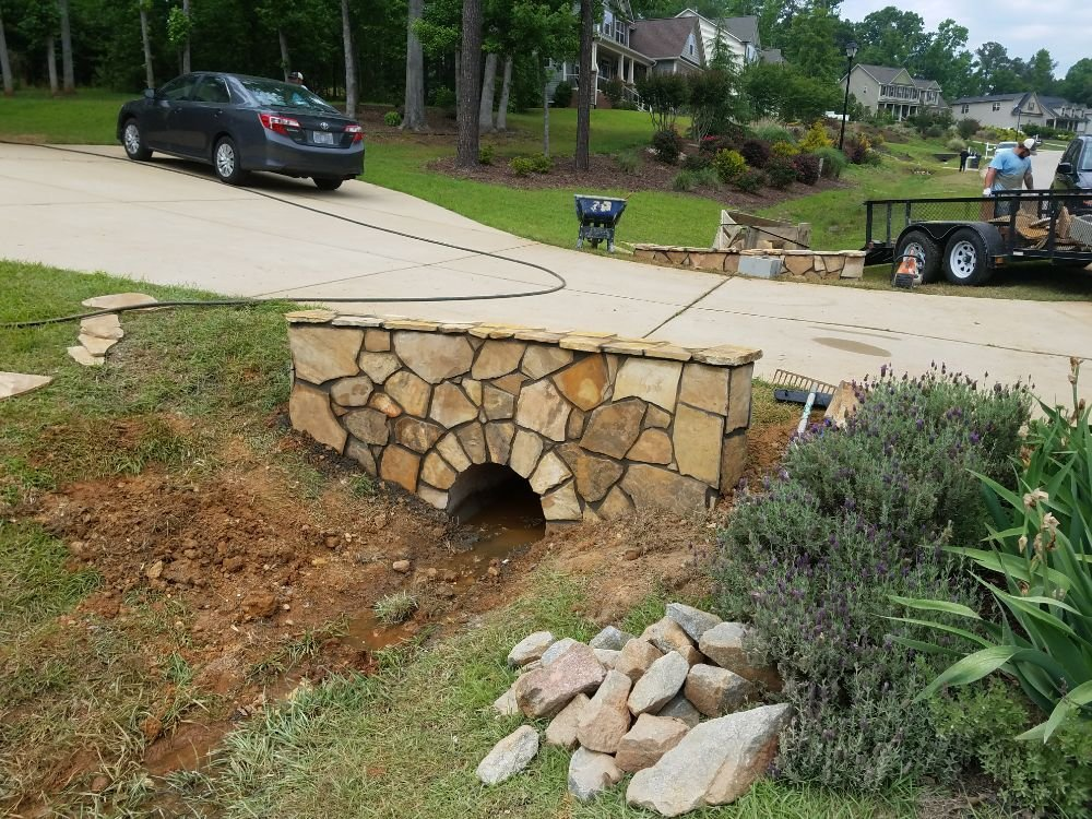 Driveway Culvert Wall In Stone Yelp