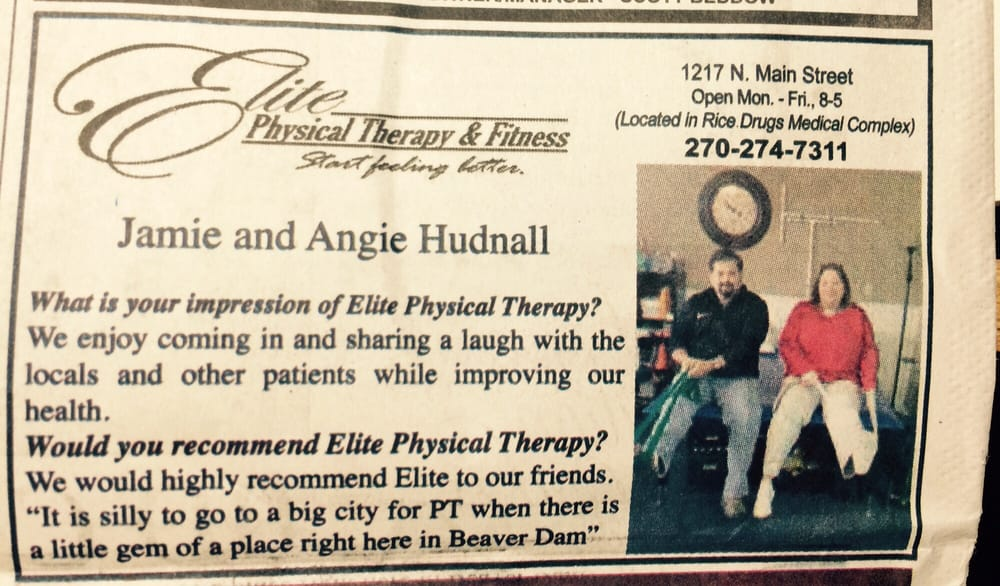 Elite Physical Therapy: 1217 N Main St, Beaver Dam, KY