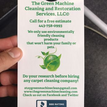 photo of the green machine cleaning and restoration services lusby md united states
