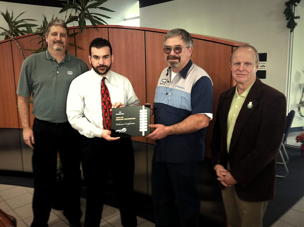 David cox receives american honda 39 s certified master for University honda corvallis