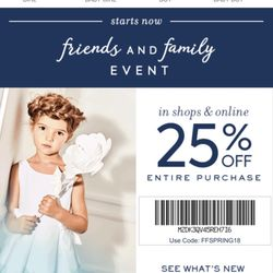 Janie and Jack, a children's clothing store, routinely has discounts on dresses, tops, leggings, pants, jackets, hats and shoes for different occasions in its sales section. After Thanksgiving and around the holidays, find additional discounts for up to 15% off items and free shipping on certain orders%(59).