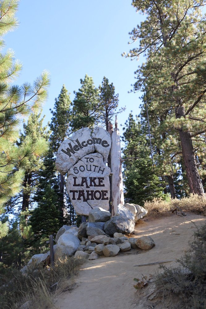 Welcome to South Lake Tahoe Sign: CA 28, South Lake Tahoe, CA