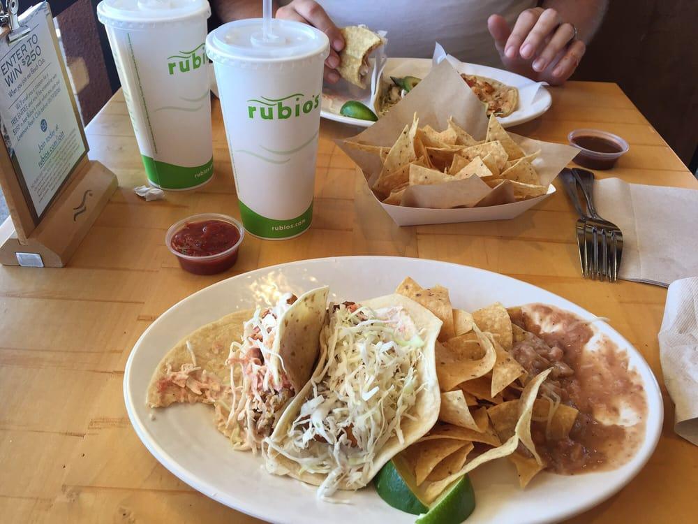 The original fish taco plate with flour tortillas instead for Rubio s coastal grill the original fish taco