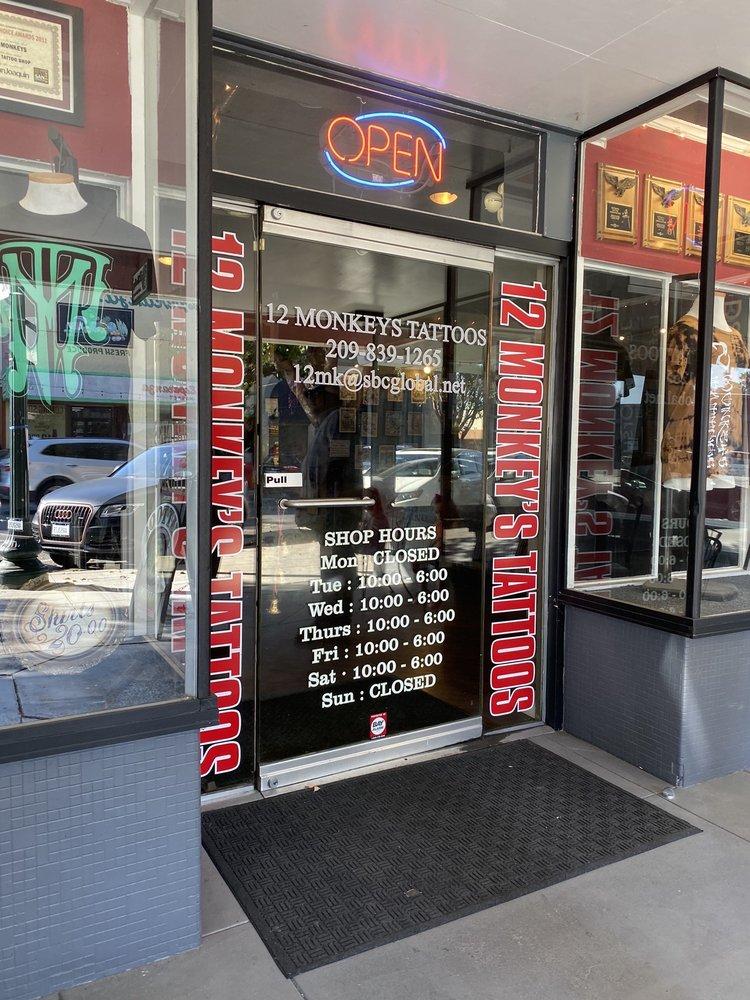 12 Monkeys Tattoos: 911 Central Ave, Tracy, CA