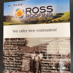 Photo Of Ross Roofing Marina Ca United States Nicest Professional Service Staff