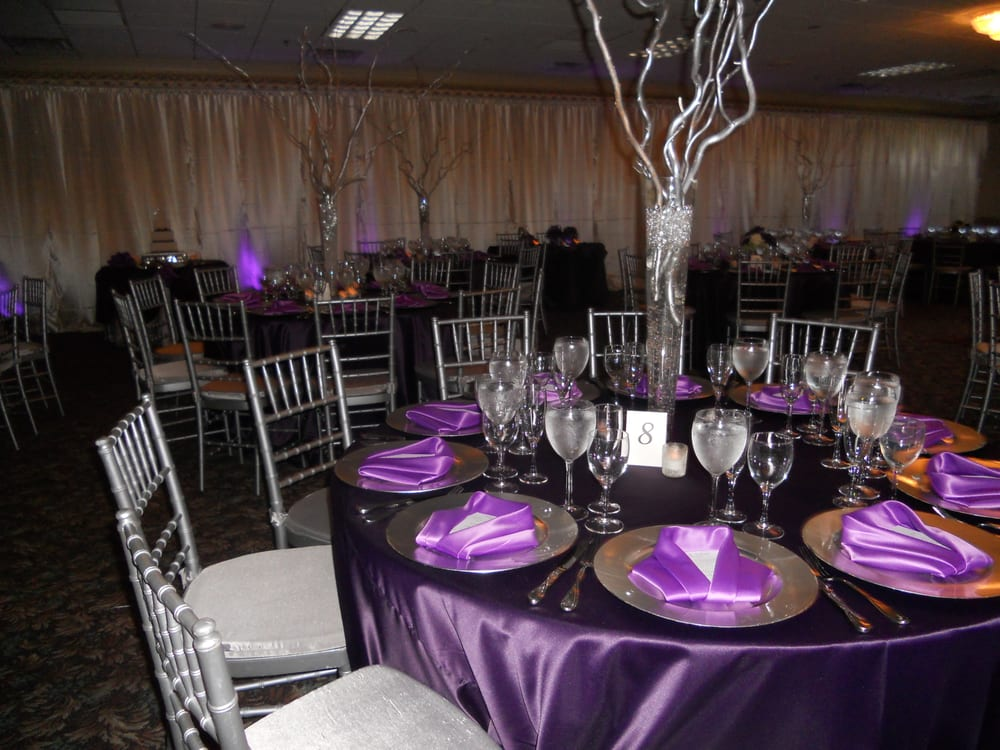 A lovely purple and silver 50th birthday party yelp for 50 birthday party decoration ideas