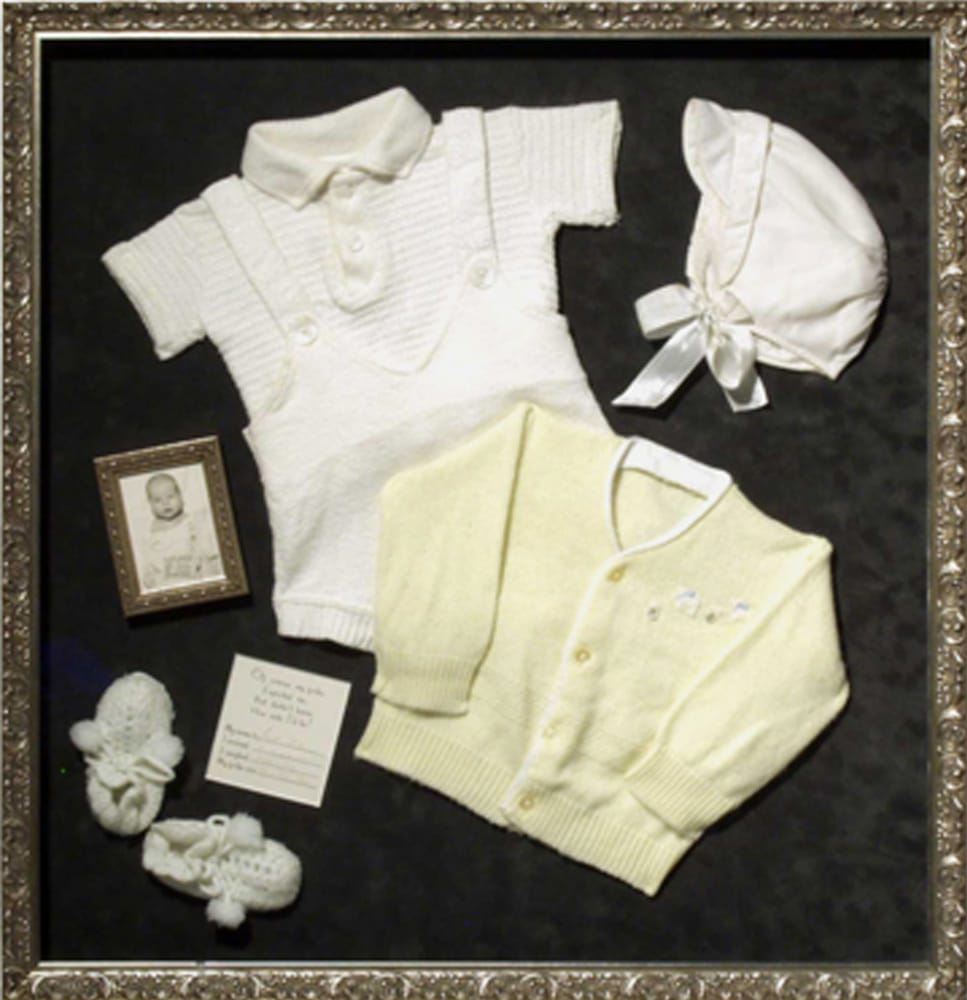 Framed Baby Clothes Shadowbox Yelp