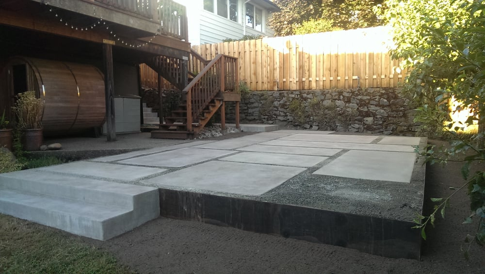Patio With Pour In Place Concrete Decomposed Granite Fill