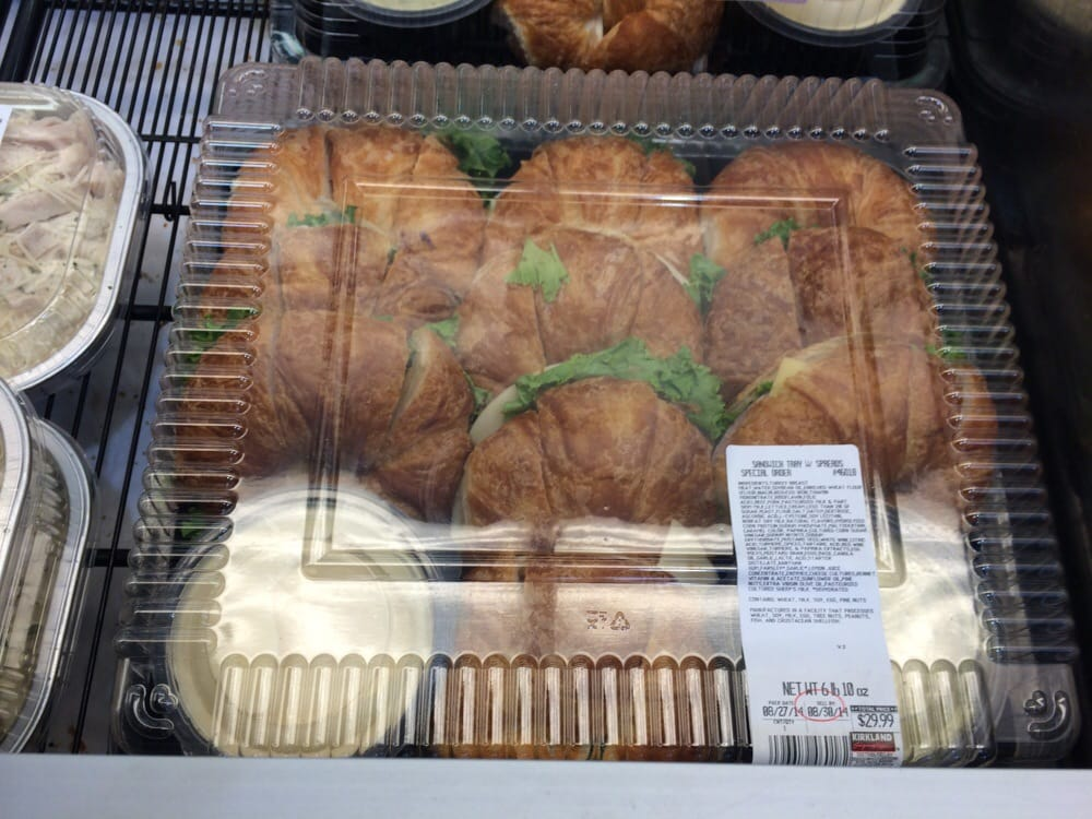 Croissant sandwich trays. $29.99 for 10, cut in half ...