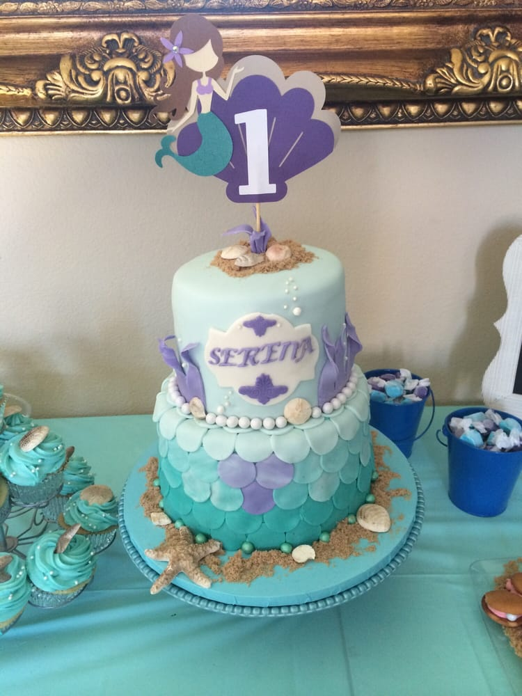 My Daughters First Birthday Cake It Was An Under The Sea Mermaid