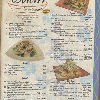 Esaan thai 23 photos 81 reviews thai 30 n beaver for Carryout menu