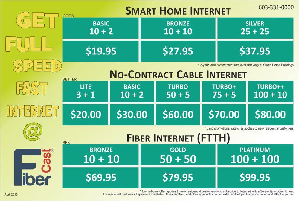 Fibercast Cable Communications: 158 Main St, Colebrook, NH