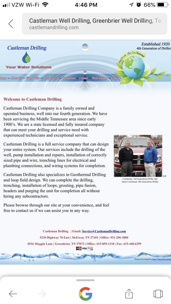 Castleman Well Drilling & Pump Service: 5230 Hwy 70 E, Waverly, TN