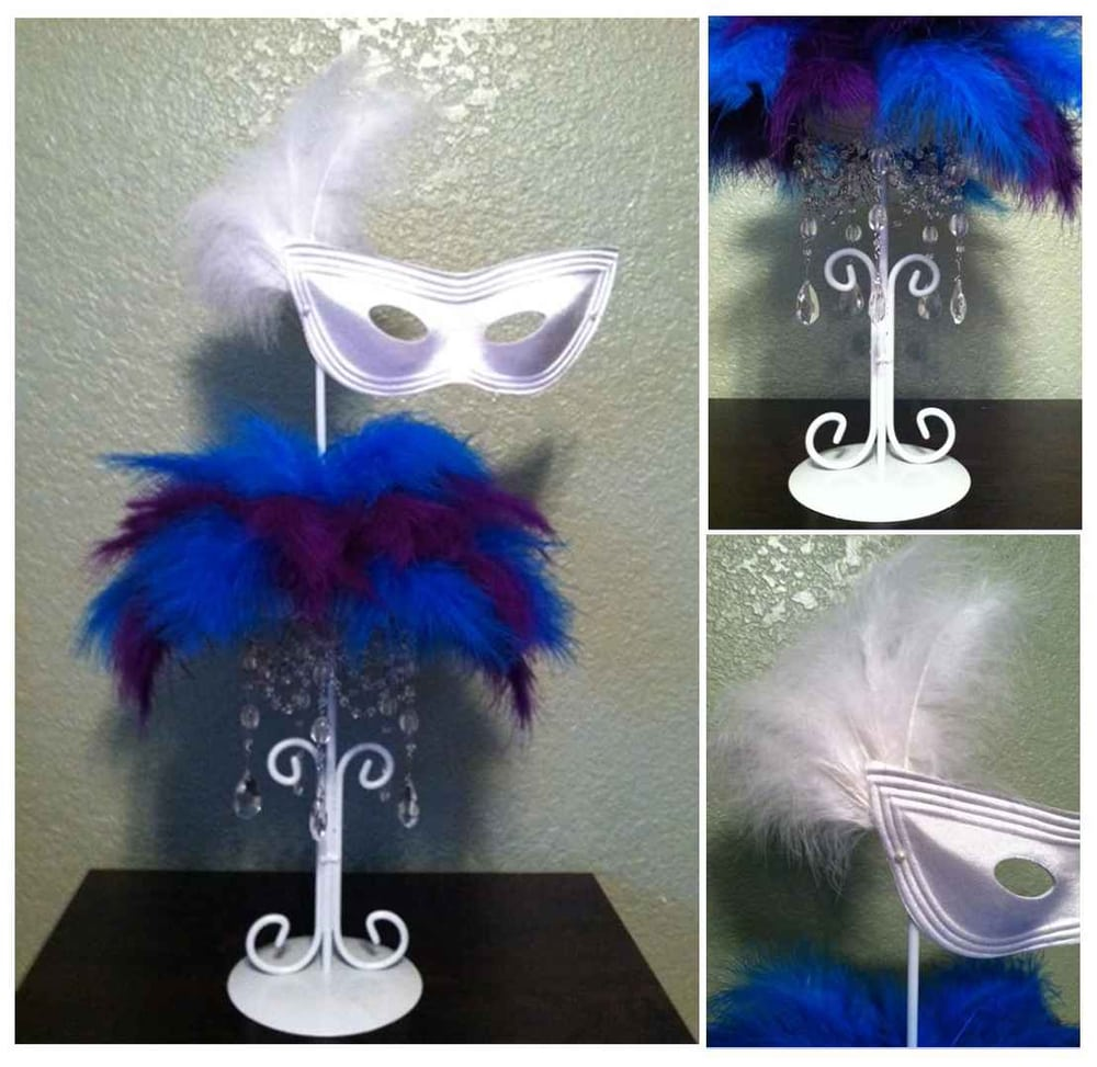 Mask Decorating Ideas: Sweet 16 Masquerade Centerpieces