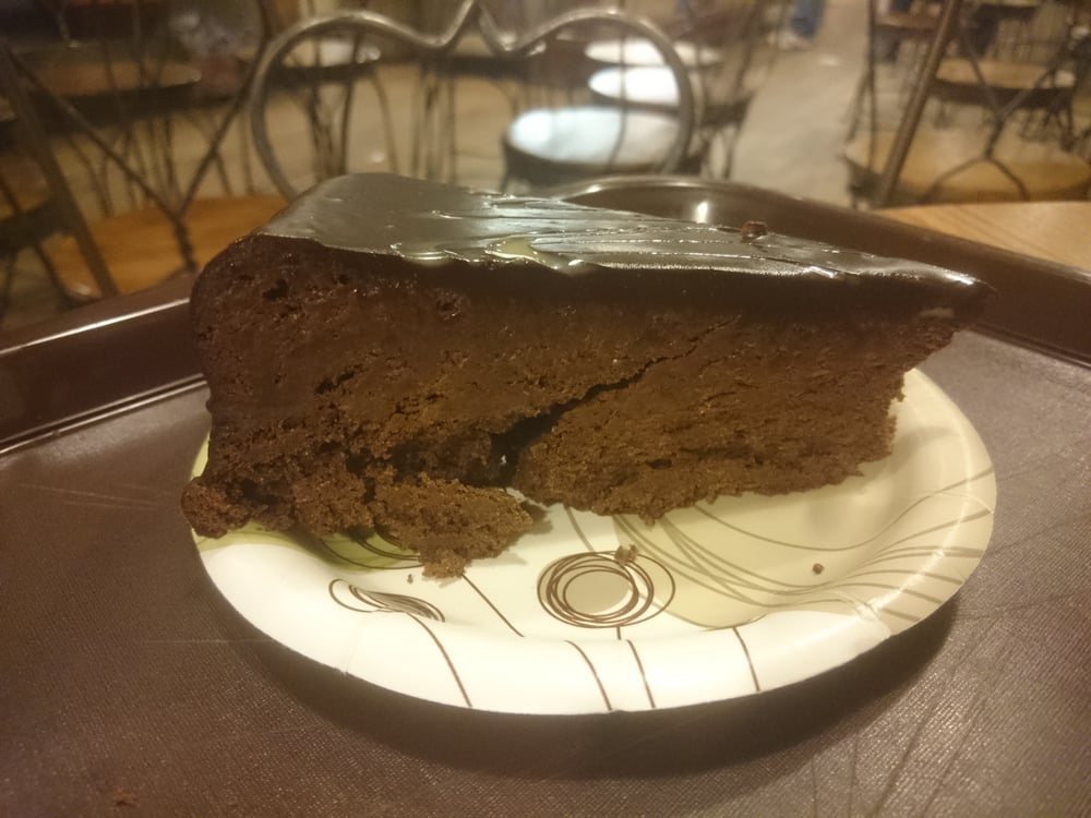 23/1/16 - Flourless chocolate cake slice - $4.50 - Yelp