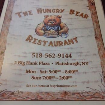 Hungry Bear Restaurant Plattsburgh Ny Menu