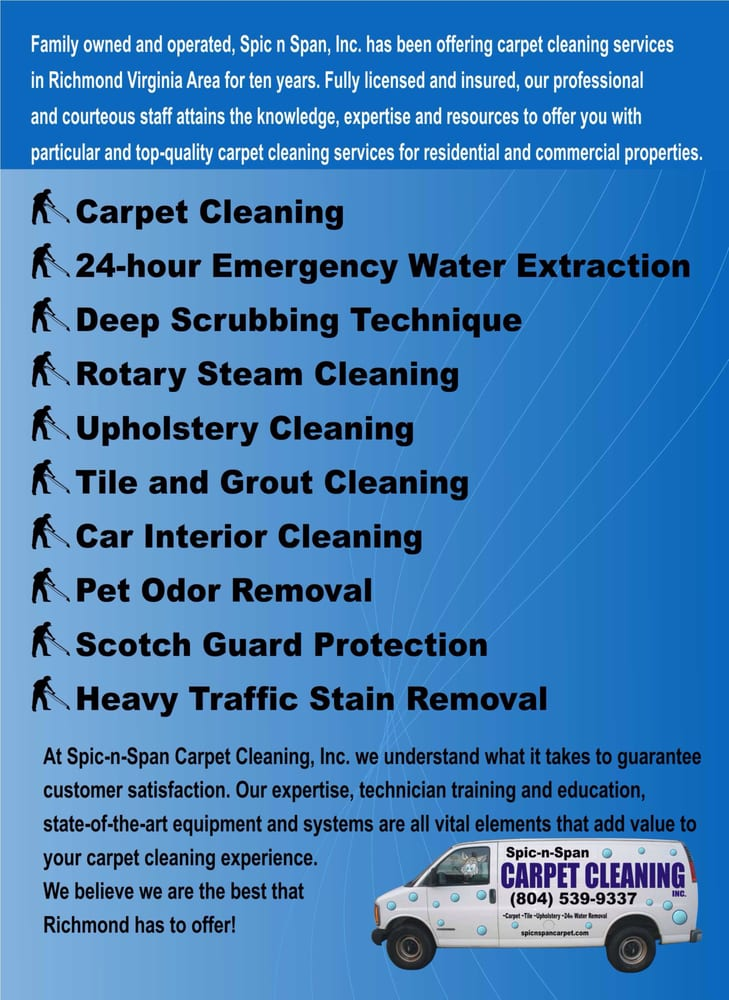 Spic n Span Carpet Cleaning