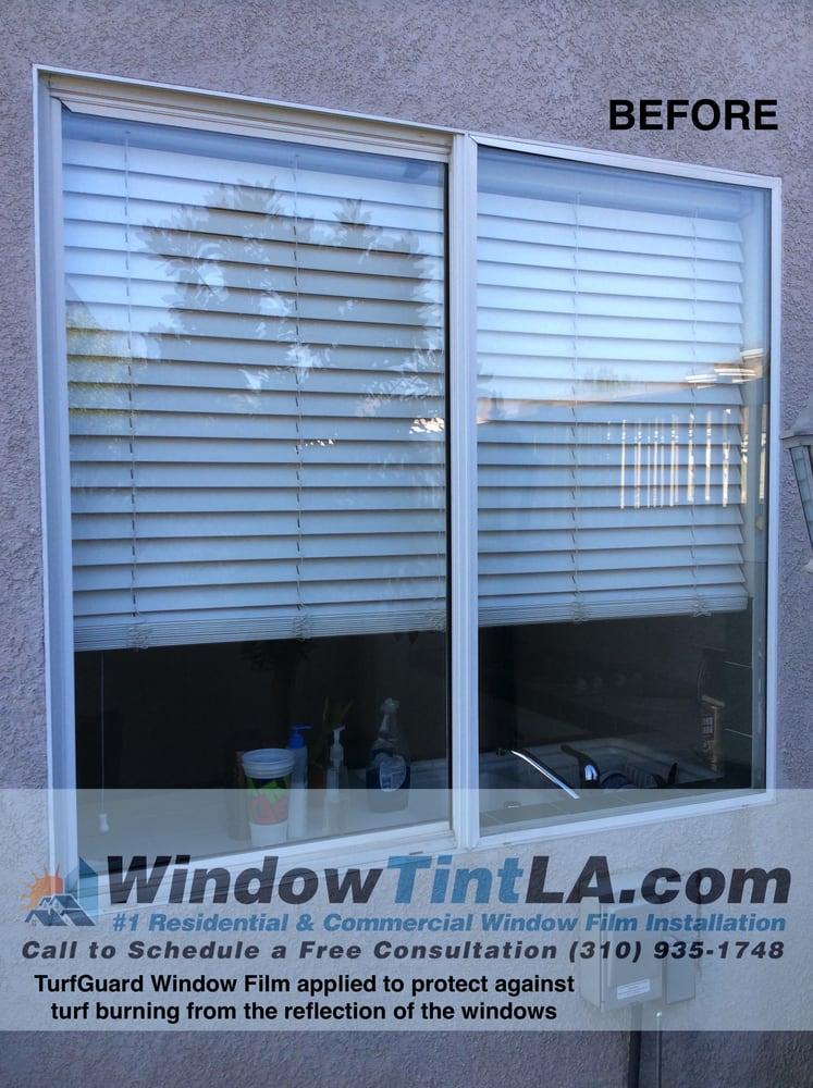 Turf Guard exterior window film stops the reflection