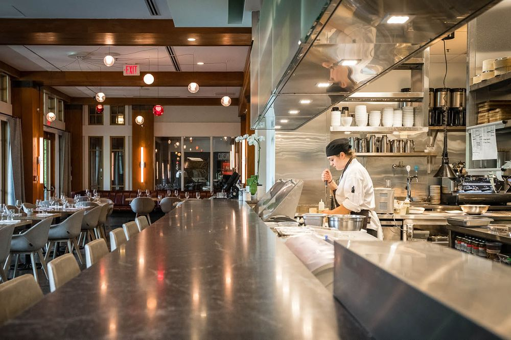 The Open Kitchen Concept Brings The Action Ever Closer To The Diner