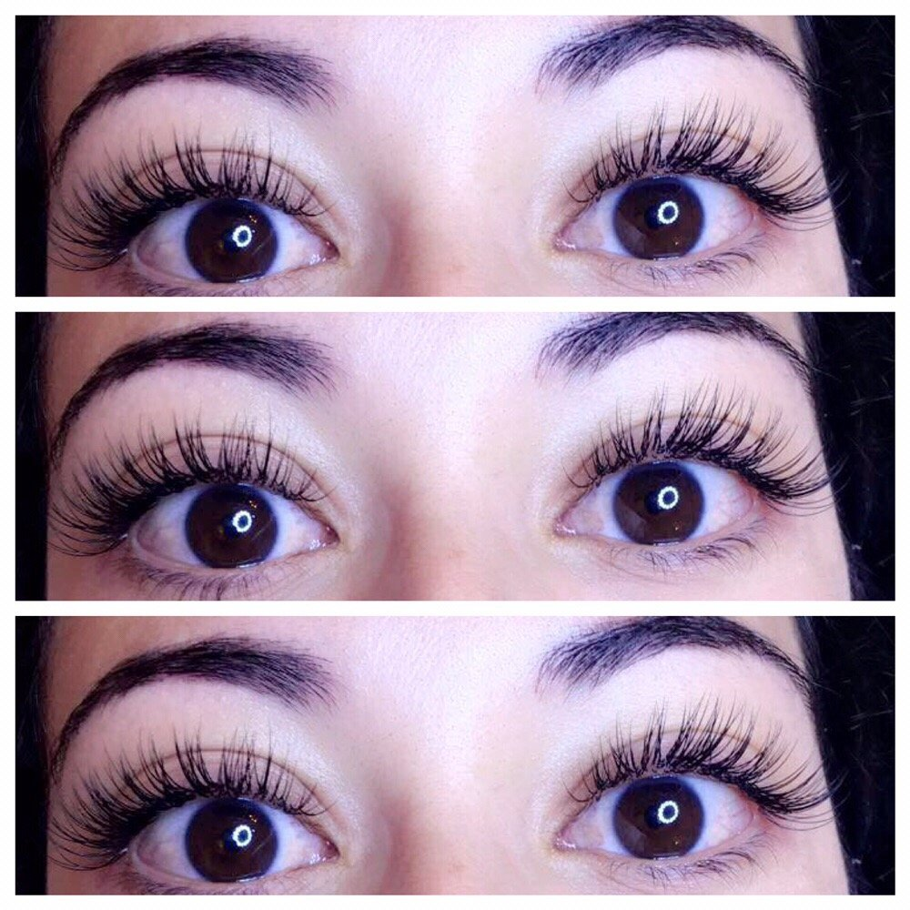 First Time Set Of Eyelash Extensions No Need For Strip Lashes