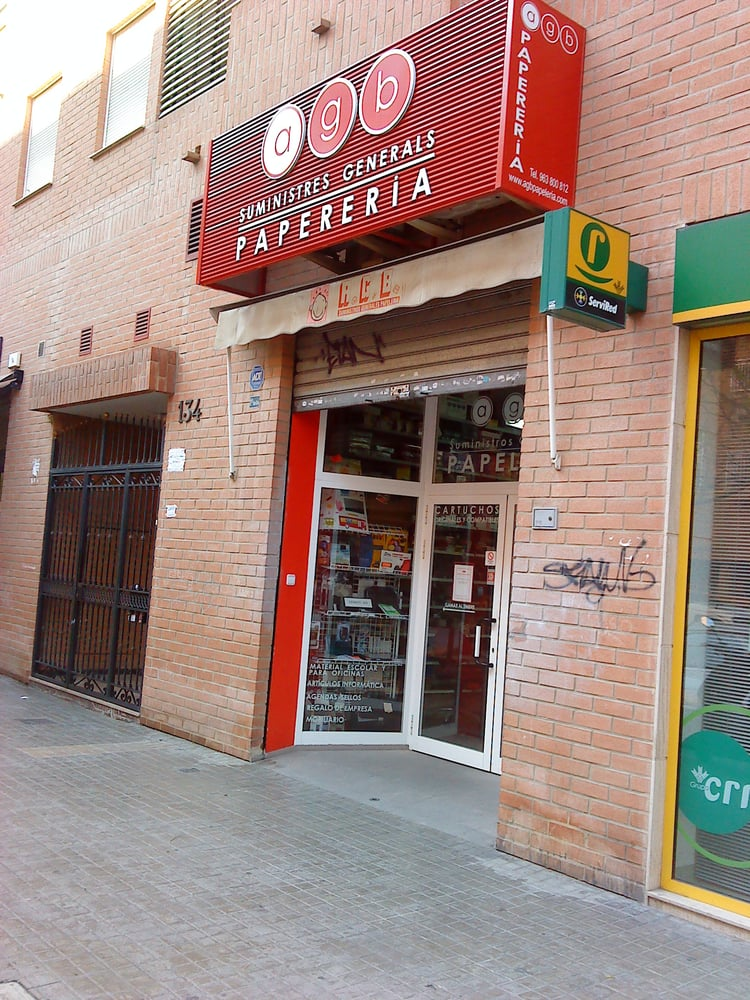Agb papeler a material de oficina carrer de conca 134 for Material oficina valencia