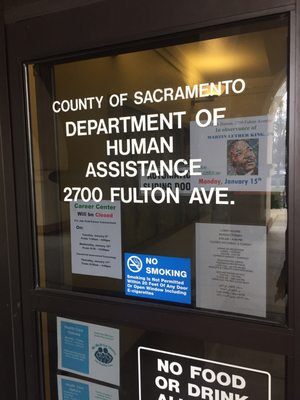 Department Of Human Assistance Sacramento County 2700 Fulton Ave