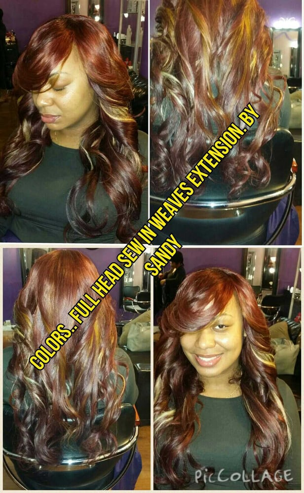 Full Head Sew In Weaves No Hair Left Out Yelp