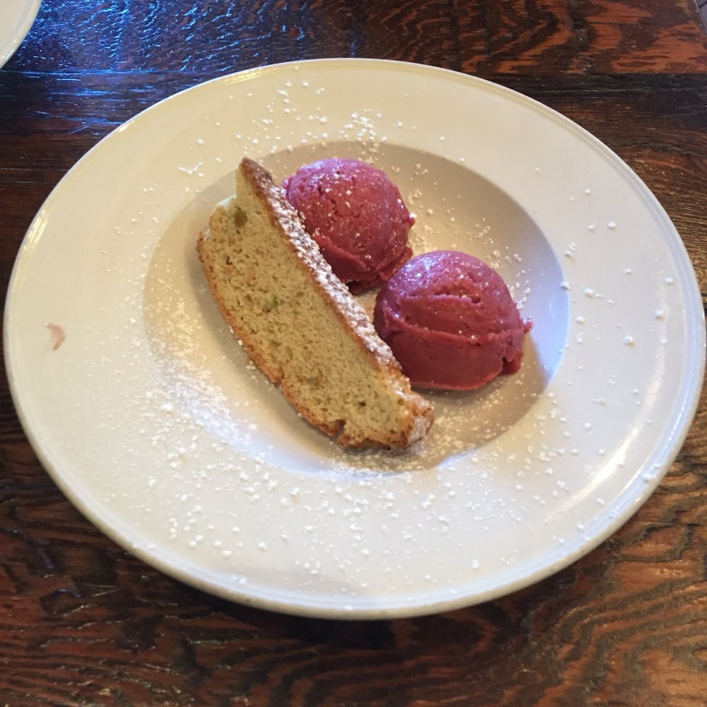 Pear sorbet with biscotti - Yelp