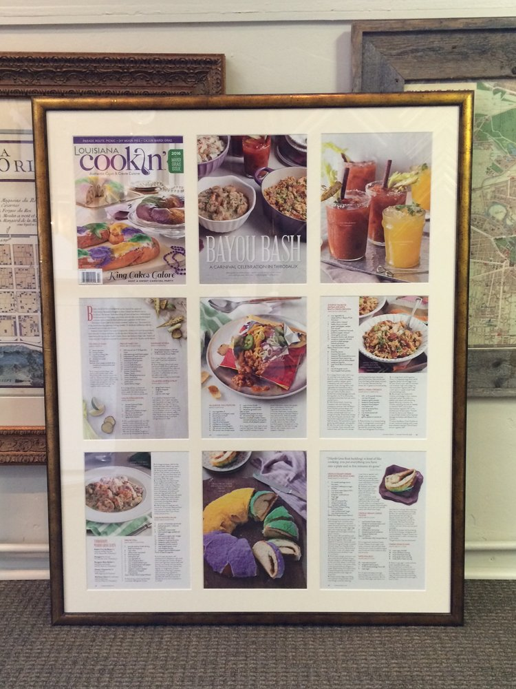We frame magazines write-up for several local restaurants - Yelp